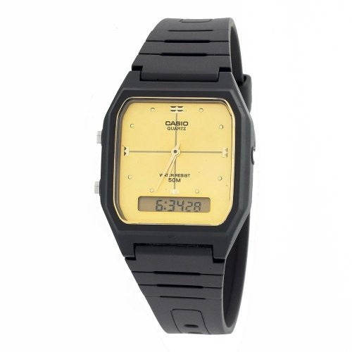 CASIO ANALOG DIGITAL MENS WATCH DUAL TIME AW48HE-9