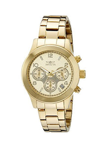 Invicta Women's Angel Chronograph Gold Plated Stainless Steel Watch 19217