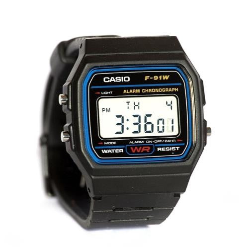 Casio Digital Watch Water Resistant Alarm F91W-1