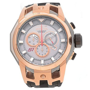 Invicta Men's S1 Rally Chronograph Rose Gold and Grey Case Silicone Watch 16810