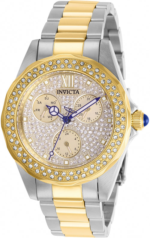 Invicta Women's Angel Chrono 100m Crystals Two Tone Stainless Steel Watch 28433