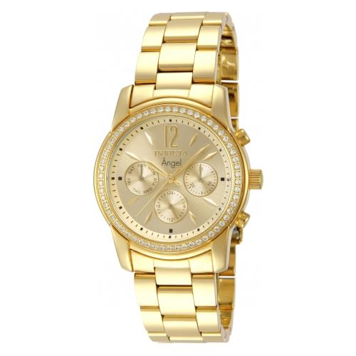 Invicta Women's Angel Chronograph Stainless Steel Gold Dial Watch 11770