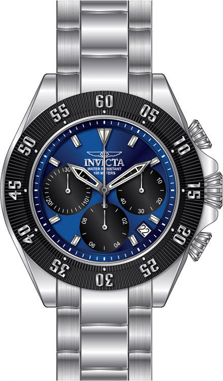 Invicta Men's Speedway Chronograph Stainless Steel Blue Dial Watch 22393