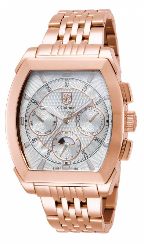 S. Coifman Men's Chrono Quartz Rose Gold Plated Stainless Steel Watch SC0096