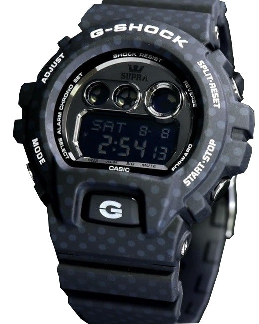 Casio G-Shock Men's Limited Supra Polka Dotted Black Resin Watch GDX6900SP-1