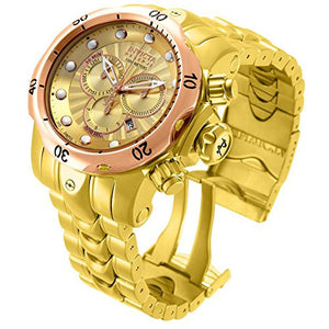 Invicta Men's Venom Chrono Rose/Yellow Gold Plated Stainless Steel Watch 13874