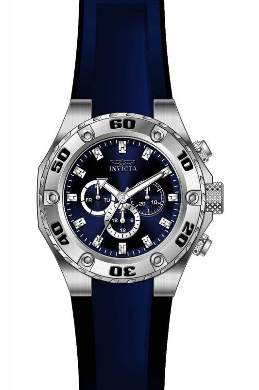 Invicta Men's Specialty Chronograph Stainless Steel Blue Silicone Watch 21456