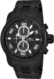 Invicta Men Pro Diver Multi Function Stainless Steel Black Watch 24157