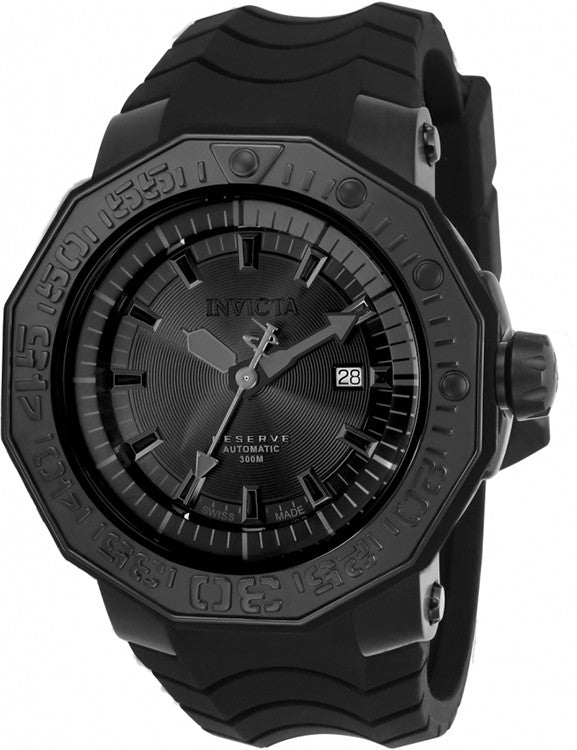 Invicta Men's Reserve Automatic 300m Stainless Steel Black Silicone Watch 23032