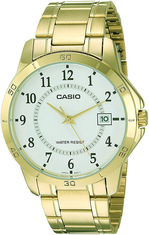 Casio Men's Analog Quartz Gold Tone Stainless Steel Watch MTPV004G-7B
