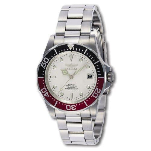 Invicta Men's Pro Diver Automatic 200m White Dial Stainless Steel Watch 9404