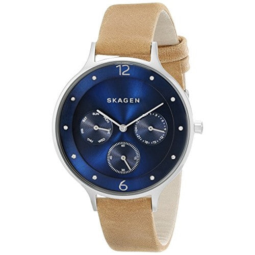 Skagen Anita Women's Leather Multifunction Watch