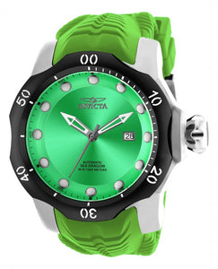 Invicta Men's Venom Automatic 1000m Stainless Steel Green Silicone Watch 19307