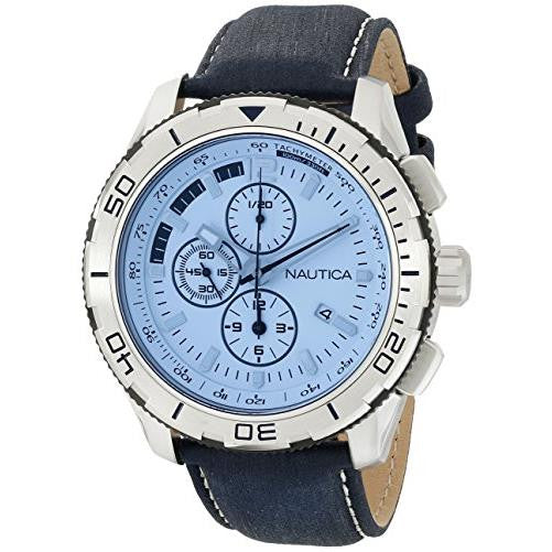 Nautica Men's NAD19519G NST 101 Analog Display Japanese Quartz Blue Watch
