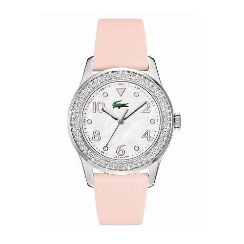 Lacoste Advantage Mother of Pearl Dial Rubber Strap Ladies Watch 2000663