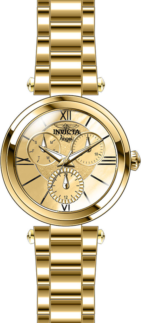 Invicta Women's Angel Quartz Chrono 100m Gold Tone Stainless Steel Watch 28926