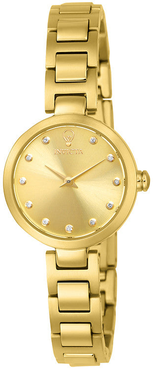 Invicta Women's Gabrielle Union Quartz Gold Tone Stainless Steel Watch  Crystal 22949