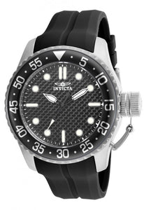Invicta Men's Pro Diver Quartz 100m Stainless Steel Black Silicone Watch 17510