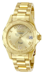 Invicta Women's 14397 Angel Gold Dial Gold Tone Watch with Crystal Accents