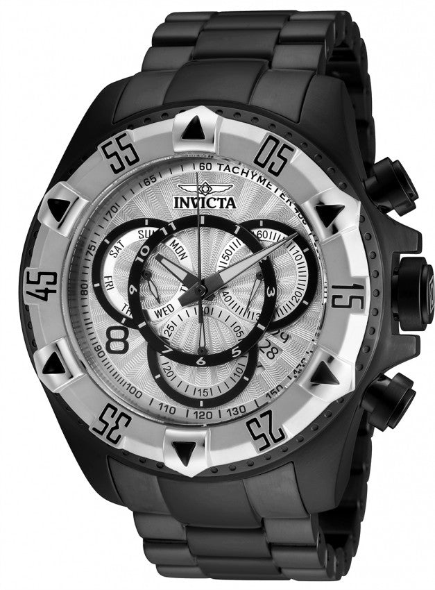 Invicta Men's Excursion Chronograph 200m Black-Tone Stainless Steel Watch 24268
