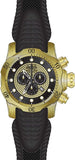 Invicta Men's Venom Chrono 1000m Gold Plated Case Black Silicone Watch 20443