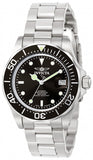 Invicta Men's Pro Diver Date Display Black Dial Stainless Steel Watch 9307