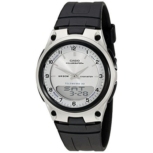 Casio Men's Analog Digital 30 Page Data Bank Watch AW80-7