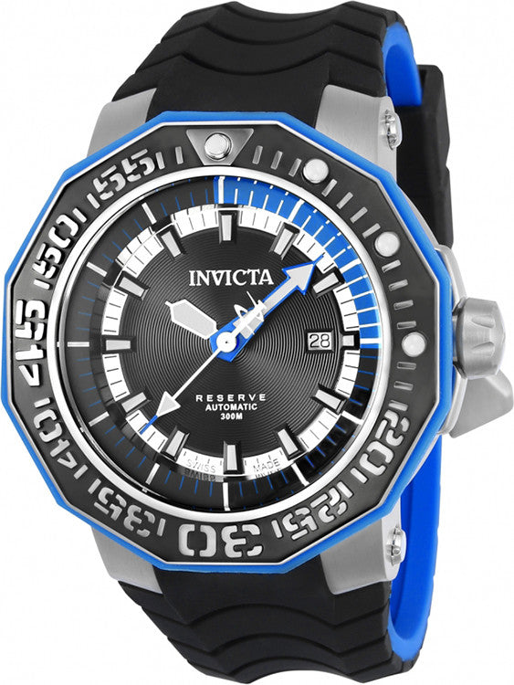 Invicta Men's Reserve Automatic 300m S. Steel Black/Red Silicone Watch 23029