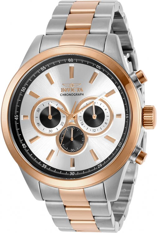 Invicta Men's Specialty Quartz Chrono 100m Two Tone Stainless Steel Watch 29173