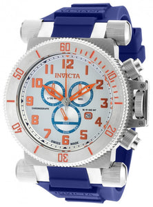 Invicta Men's Coalition Forces Chrono Stainless Steel Blue Silicone Watch 18728
