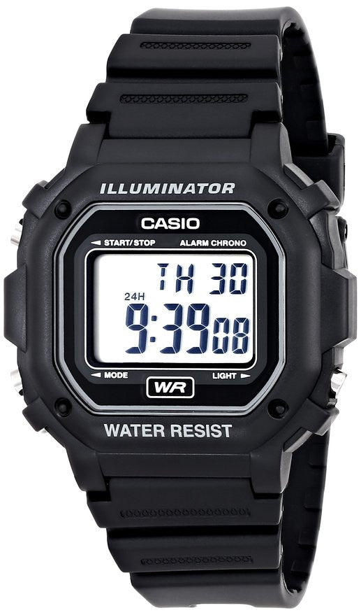 CASIO WATCH 30m Water Resistance Digital Watch with Black Resin Strap