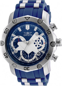 Invicta Men's Pro Diver 100m Stainless Steel Chronograph Blue Dial Watch 22796