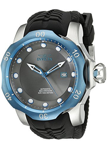 Invicta Men's Venom Automatic 1000m Stainless Steel Black Silicone Watch 19314