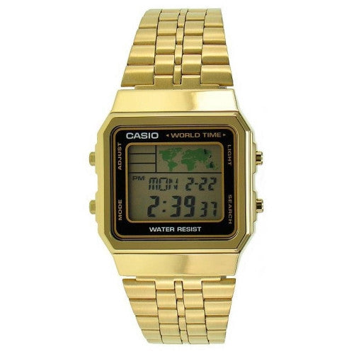 Casio Chrome Plated Stainless Steel Watch A500WGA-1D