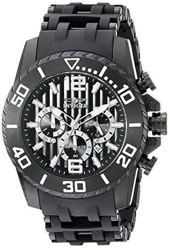 Invicta Men's Sea Spider Chronograph Stainless Steel Polyurethane Watch 20287