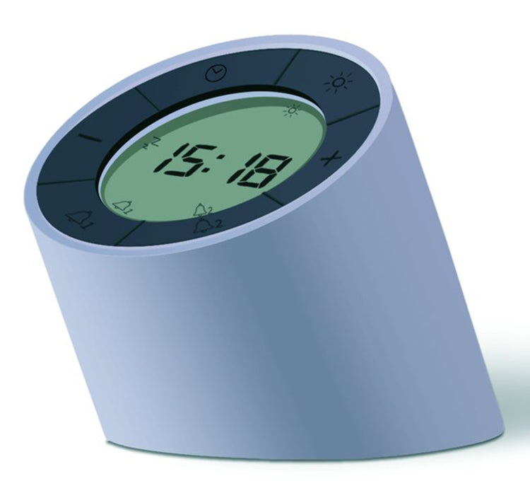 Gingko Edge Light Digital Rechargeable Dual Alarm Clock (Grey) G001GY