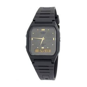 CASIO ANALOG DIGITAL MENS WATCH DUAL TIME AW48HE-8A