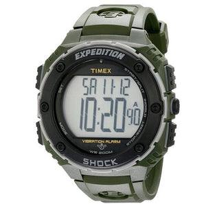 Timex Men's Expedition Shock XL Vibrating Alarm Green Resin Watch T49951