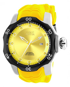 Invicta Men's Venom Automatic 1000m Stainless Steel Yellow Silicone Watch 19301