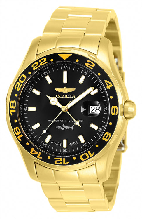 Invicta Men's Pro Diver Quartz 100m Gold-Plated Stainless Steel Watch 25822
