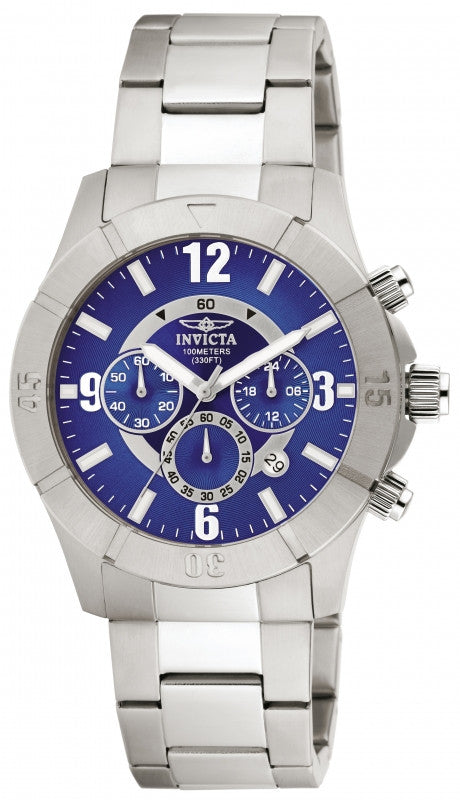 Invicta Men's Specialty Chronograph Analog Quartz Stainless Steel Watch 1421