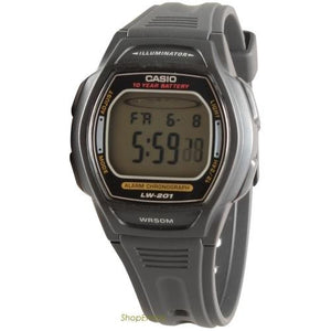 Casio Ladies Digital Watch Dual Time Alarm 50M LW201-1