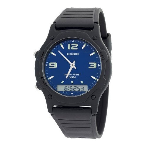 CASIO ANALOG DIGITAL MENS WATCH DUAL TIME AW49HE-2A