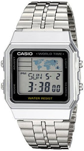 Casio Men's A500WA-1ACF Classic Digital Display Quartz Silver Watch
