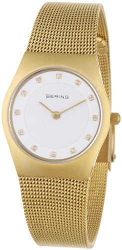 Bering Women's Milanaise Mesh Strap Gold Tone Stainless Steel Watch 11927-334