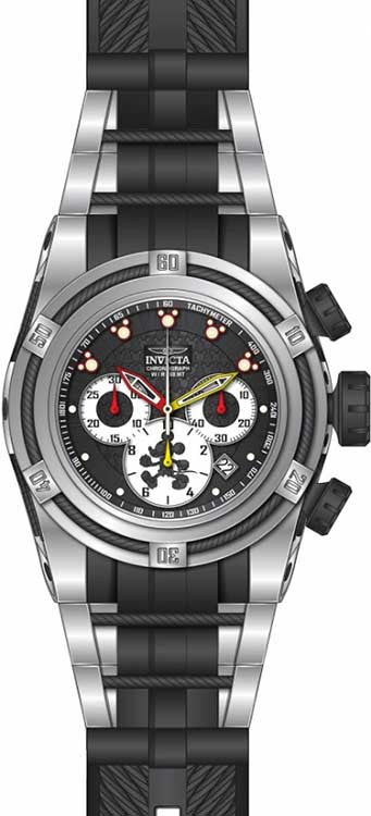Invicta Men's Disney Quartz Chronograph White, Gunmetal Dial Watch 23236