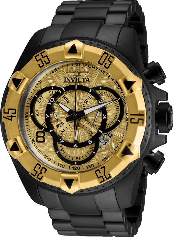 Invicta Men's Excursion Chronograph 200m Black-Tone Stainless Steel Watch 24267