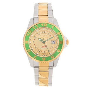 Invicta Men's Pro Diver 200m Green Bezel Two Toned Stainless Steel Watch 18245