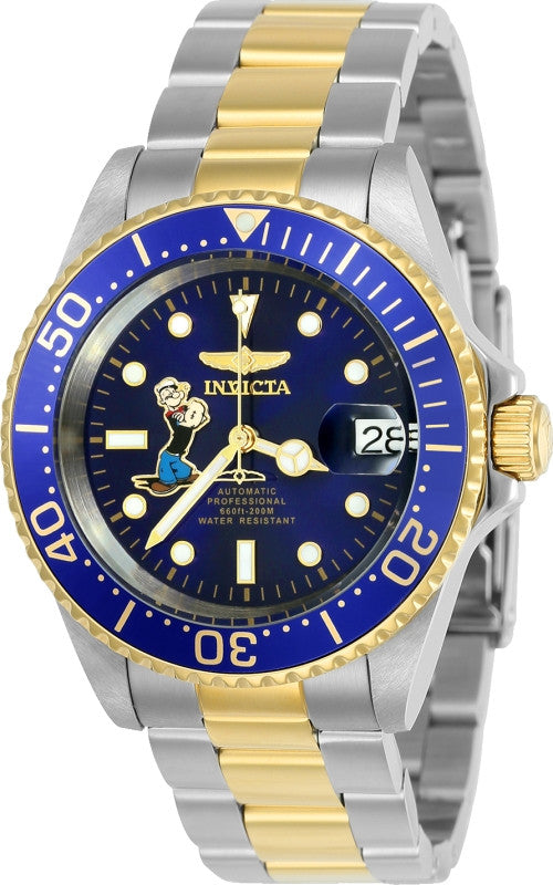 Invicta Men's Character  Automatic 3 Hand Blue Dial Watch 24487