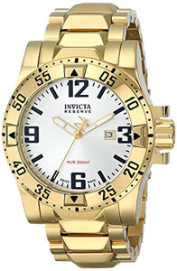 Invicta Men's Excursion 200m Silver Dial Gold Plated Stainless Steel Watch 6249